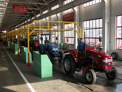 agricultural parts machinery powder coating line