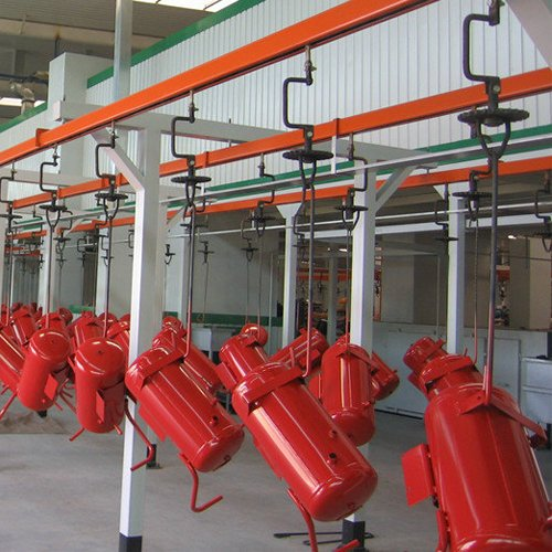 fire equipment powder coating line