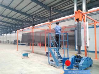 Metal wire mesh powder coating line