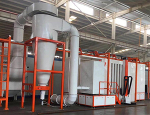 Fast Color Change Powder Coating Booth
